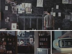 inspired by the movie 500 days of summer. i decided to put a chalkboard wall in my room. it adds space and creativity.