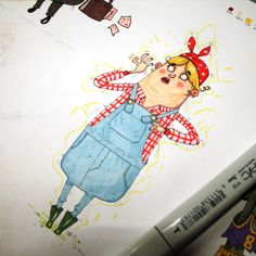 Daily Character Drawings V by Nelson Atmos, via Behance