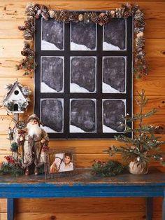 Cedar Lodge: Snowy Window Chalkboard Canvas