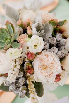 Peony + Succulent Bouquet