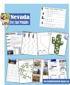 {free} Nevada State Printables including learning fun for kids 3-10 years old! Don't miss all the state packs from Living Life Intentionally