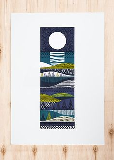 Kainuu. Silk screen print designed and hand printed by Sanna Annukka.