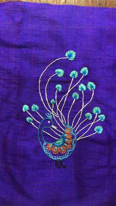 Peacock, Designer Dresses, Indian, Embroidery, Designer Gowns, Needlepoint, Peacocks, Peafowl, Crewel Embroidery