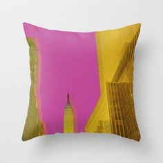 PINK NYC Throw Pillow by IamDesigner - $20.00
