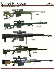 Accuracy International Sniper Rifle 50 Caliber and Magnum 338