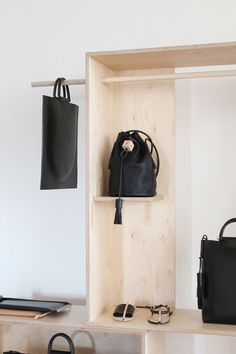 Wooden storage unit - could be used for an entryway storage solution to dump your handbag and other odds and ends