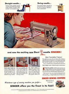 Still Stitching - Vintage Sewing Machines: 50 Vintage Singer Company Magazine Ads Retro Ads, Vintage Advertisements, Vintage Ads, Vintage Clothing, Sewing Cards, Antique Sewing Machines, Old Ads, Magazine Ads, Couture