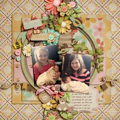 Shabby Miss Jenn's Honey Love kit!  template: Fiddle Dee Dee In the Round
