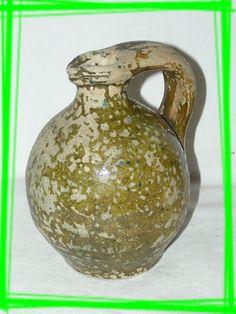 biot poterie provencale vernissee verte grande cruche ancienne bastides et mas proven aux. Black Bedroom Furniture Sets. Home Design Ideas