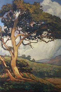 Valley - Jan Schmuckal - Oil - Arts & Crafts - Craftsman - Bungalow - Art