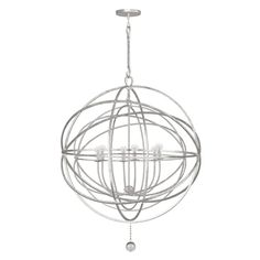 Crystorama - 9209-OS sales at Keidel. Transitional,Eclectic Cage Chandeliers Chandeliers in a decorative Olde Silver finish