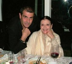 Michele Miglionico and classical dancer Carla Fracci