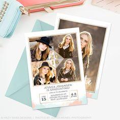 High School Senior Graduation Announcement Templates #photographers #photography #card #graduation #announcement #templates #senior #modern #marketing #seniors