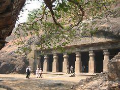 The Elephanta Caves are on Elephant Island in Mumbai Harbour. Source: http://www.indiatravelblog.net/wp-content/uploads/2011/12/Elephanta-Caves-Mumbai.jpg More: http://en.wikipedia.org/wiki/Elephanta_Caves