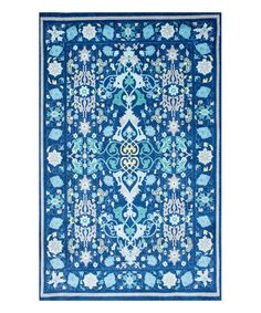 Loving this Blue Floral Janise Rug on #zulily! #zulilyfinds
