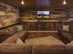Spend The Holidays at the Cabin!  Book Now!, Lake Nebagamon, Wisconsin, United States- wow look at this room, perfect for the basement. My honey would love this! Simple and all that. We could make a room look like this. (first one of two pictures)