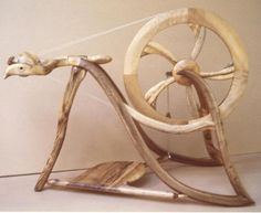 Gorgeous rustic spinning wheel
