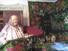 Love this floral rugs - handmade by rumanian woman