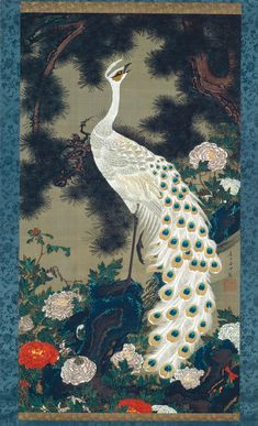 Old Pine Tree and Peacock, c. 1759–1761J. Rōshō kujaku