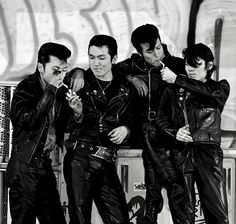 Japanese Gangster, Pandoras Box, Gangsters, Bikers, Rockabilly, Smoking, Boys, Leather, Fictional Characters