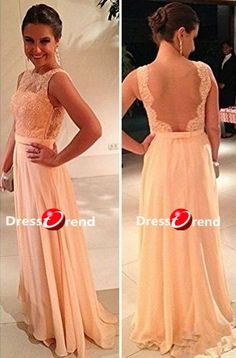 Long Formal Prom Dress Lace Prom Dresses / Long by DressTrend, $199.99