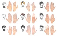 "soodyo: ""many many haikyuu hands """