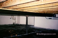 How to insulate the crawl space and how not to. Suprising.