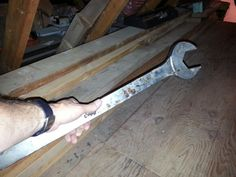 Heck of a huge wrench in an attic