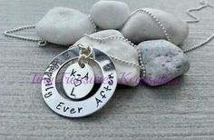 Sterling silver handstamped Happily Ever by TinyTreasuresBySC