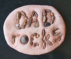 Easy salt dough paperweight for Father's Day.
