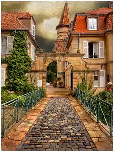 Stone path, Obernai, Alsace, France. Photo: Jean-Michel Priaux, via Flickr  Find Super Cheap International Flights to Strasboursg, France https://thedecisionmoment.com/cheap-flights-to-europe-france-strasbourg/  Find Super Cheap International Flights to France ✈✈✈ https://thedecisionmoment.com/cheap-flights-to-europe-france/