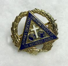 Methodist Memorabilia - Church Lapel Pin - Methodist - Cross Jewelry - Cross Pin
