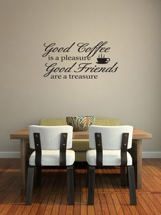 Good Coffee Friends Wall Vinyl Saying Quote by walldecalquotes, $15.99