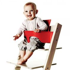 Even your littlest one can join the family table with the Tripp Trapp® Baby Set™. Specially designed for children 6 months to 3 years, the baby set securely and comfortably brings your child to the table.  2- 4 Week Lead Time  Shipping & Delivery Offered  Details: 9 color options mix match color set with chair, optional Age: 6 months to 3 years Material: Wood Maintenance: Wipe with a clean damp cloth and remove excess water with a dry cloth. Moisture will crack stain. The use of any…