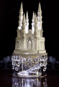 Cinderella Castle Wedding Cake Topper Lighted
