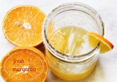 fresh orange margarita...delish