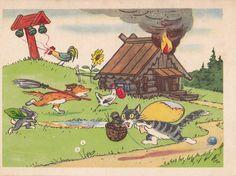 Postcard Illustration by V. Polkovnikov for by RussianSoulVintage