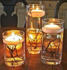 DIY easy autumn candles