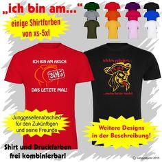 JGA T-Shirt individuell gestaltbar für Junggesellenabschied Flexdruck