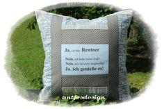 Kissen - Geschenk Rentner - Shabby Kissen m. Spruch Text - ein Designerstück…