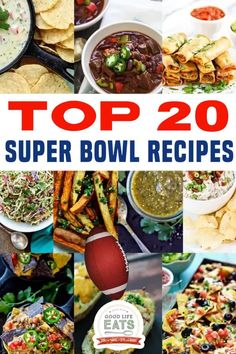 Looking for Super Bowl party food ideas? Check out our Reader Favorite Top 20 Super Bowl Recipes that will keep your guests coming back for more . . . and even more. These Super Bowl foods are all game day approved, tested by the football fans and the food lovers so they're sure to be a hit! The Super Bowl is just around the corner! | Good Life Eats @goodlifeeats #superbowlrecipes #bestsuperbowlrecipes #bestpartyfood #goodlifeeats Chicken Appetizers, Bacon Appetizers, Healthy Appetizers, Appetizer Recipes, Bacon Recipes, Snack Recipes, Snacks, Holiday Recipes, Holiday Drinks