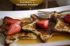 Pancakes de fresa y chocolate / Strawberry and Chocolate Pancakes