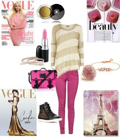 """""""Gold & Pink Week"""" by katjakirchner ❤ liked on Polyvore"""