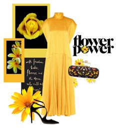 """Flower Power"" by youaresofashion ❤ liked on Polyvore featuring Kate Spade, Valentino, Jimmy Choo, Alexander McQueen, MELLOW YELLOW and AlexanderMcQueen"