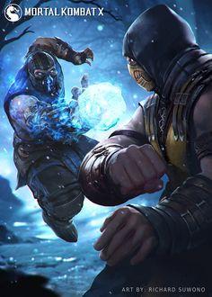Sub Zero vs Scorpion Mortal Kombat Memes, Mortal Kombat Xl, Mortal Kombat X Wallpapers, Geeks, Scorpion Mortal Kombat, Arte Ninja, Fighting Games, Video Game Art, Street Fighter