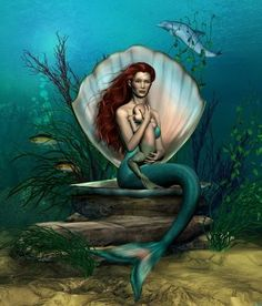 Image shared by Amy Melampy. Find images and videos about mermaid, seat and fantasy art on We Heart It - the app to get lost in what you love. Mermaid Artwork, Mermaid Pictures, Mermaid Drawings, Mermaid Tattoos, Mermaid Paintings, Baby Pictures, Fantasy Girl, Fantasy Mermaids, Mermaids And Mermen