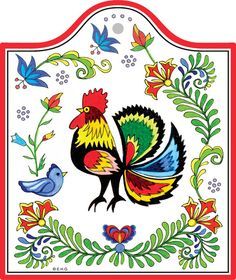 Ceramic Cheeseboard: Rooster – Great Polish gift idea. Or for those that love roosters.