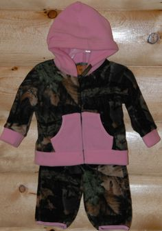 camo baby boy clothes | CamoDump.com - Boys Infant or Toddler Camo Accent Fleece Set