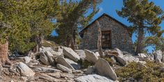 Stone hut just below the summit of Mount San Jacinto.- California's 60 Best Day Hikes