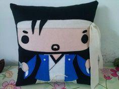 Handmade Japanese Japan Samurai Kotaru-san Plush Pillow | #tokyo #osaka #kyoto #samurai #anime #manga #otaku #kawaii #fandom #comics #gift #toy #doll | http://www.rbitencourtusa.com/#!product/prd1/2685442401/handmade-japanese-japan-samurai-kotaru-san-pillow